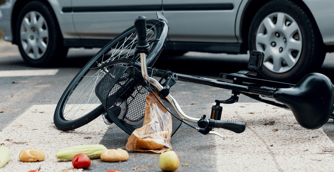 bicycle that was just hit